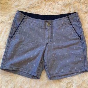 Columbia PFG chambray anchor shorts size 4